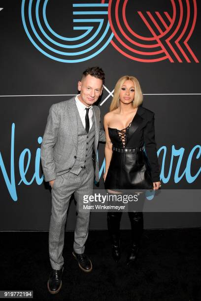 Editorinchief Jim Nelson and Cardi B attend the 2018 GQ x Neiman Marcus All Star Party at Nomad Los Angeles on February 17 2018 in Los Angeles...