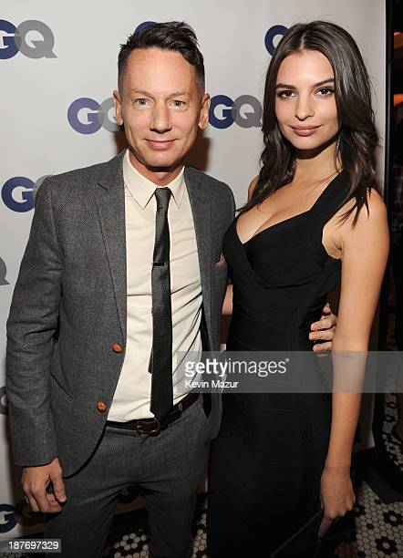 GQ editorinchief Jim Nelson and model Emily Ratajkowski attend the GQ Men of the Year dinner on November 11 2013 in New York City