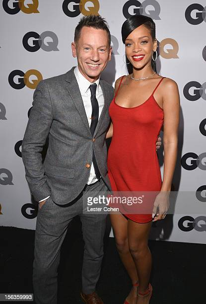 GQ editorinchief Jim Nelson and singer Rihanna arrive at the GQ Men of the Year Party at Chateau Marmont on November 13 2012 in Los Angeles California