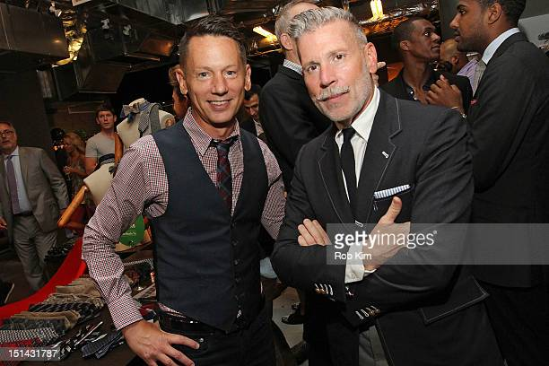 GQ editorinchief Jim Nelson attends GQ Nordstrom Launch PopUp Store On Fashion's Night Out at Nordstrom's Treasure Bond Store on September 6 2012 in...