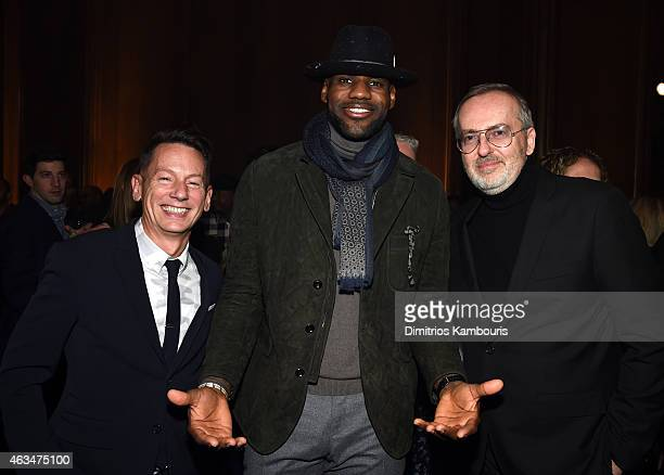 EditorinChief Jim Nelson basketball player LeBron James and GQ Creative Director Jim Moore attend GQ and LeBron James Celebrate AllStar Style on...