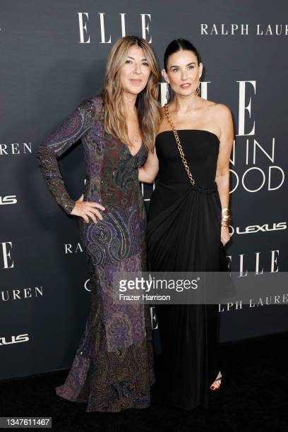 Editor-in-Chief Nina Garcia and Demi Moore attend ELLE's 27th Annual Women In Hollywood Celebration, presented by Ralph Lauren and Lexus, at Academy...