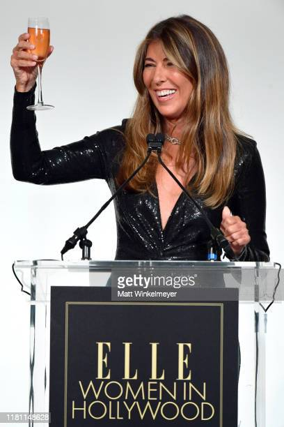 EditorinChief Nina Garcia speaks onstage during ELLE's 26th Annual Women In Hollywood Celebration Presented By Ralph Lauren And Lexus at The Four...
