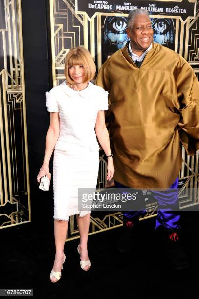 Editorinchief of American Vogue Anna Wintour and André Leon Talley attend the 'The Great Gatsby' world premiere at Avery Fisher Hall at Lincoln...