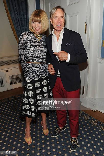 Editorinchief of American Vogue Anna Wintour and designer Tommy Hilfiger attend the 2010 Fashion's Night Out KickOff press conference at City Hall...