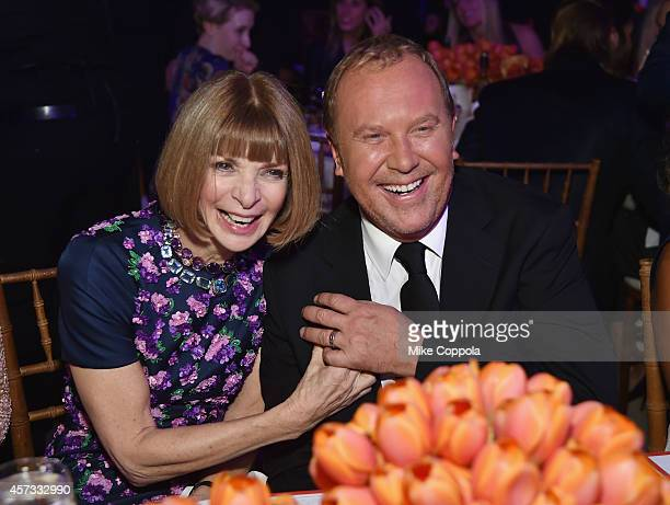Editor-in-Chief of American Vogue Anna Wintour and Michael Kors attend God's Love We Deliver, Golden Heart Awards on October 16, 2014 in New York...