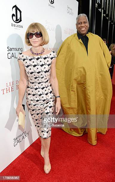 EditorinChief of American Vogue Anna Wintour and Vogue editor Andre Leon Talley attend Lee Daniels' 'The Butler' New York premiere hosted by TWC...