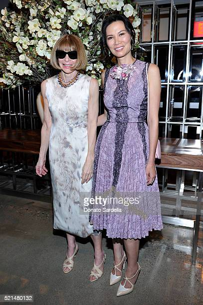 Editorinchief of American Vogue Anna Wintour and Wendi Murdoch attend 'The First Monday in May' Los Angeles screening hosted by Bryan Lourd Wendi...