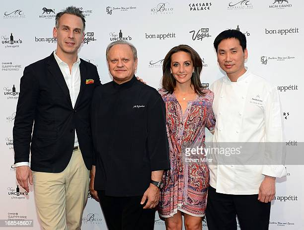 EditorinChief of Bon Appetit magazine Adam Rapoport chef Joel Robuchon Vice President and Publisher of Bon Appetit magazine Pamela Drucker Mann and...