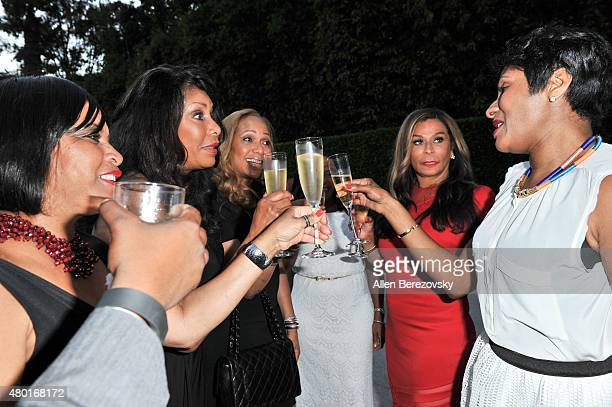 EditorinChief of Ebony Kierna Mayo fashion designer Tina Knowles Lawson and guests attend a Champagne Toast in honor of July cover star Tina Knowles...