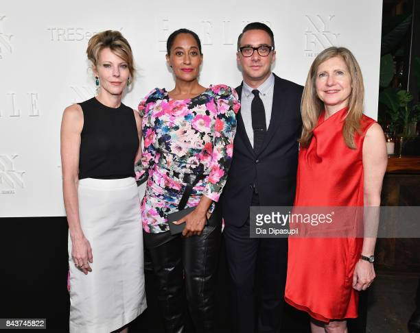EditorinChief of ELLE Magazine Robbie Myers Tracee Ellis Ross President of E Entertainment Adam Stotsky and President NBCU Lifestyle Networks NBCU...