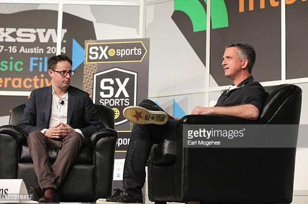 EditorinChief of ESPN's FiveThirtyEight blog Nate Silver and EditorinChief for Grantlandcom Bill Simmons speak onstage at 'Media The Personal Brand...
