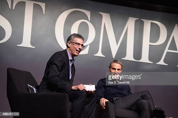 EditorinChief of Fast Company Robert Safian and coCEO of William Morris Endeavor Ari Emanuel speak onstage during 'The Next Intersection For...
