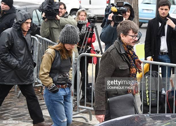 Editorinchief of French satirical weekly Charlie Hebdo Gerard Briard French cartoonist Renald Luzier aka Luz and judicial columnist Sigolene Vinson...