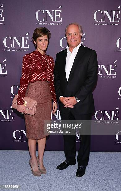 EditorinChief of Glamour Cindi Leive and President of Conde Nast Bob Sauerberg attend the Conde Nast Entertainment NewFront presentation on May 1...