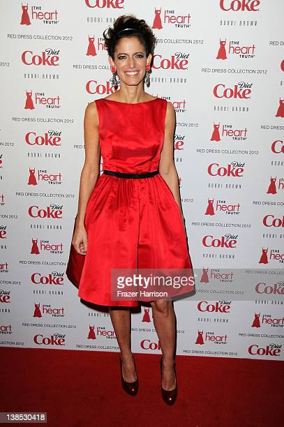 EditorinChief of Glamour magazine Cindi Leive attends the Heart Truth's Red Dress Collection 2012 Fashion Show at Hammerstein Ballroom on February 8...