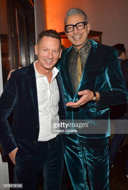 EditorInChief of GQ Jim Nelson and Jeff Goldblum attend a private dinner hosted by GQ and Dior in celebration of the 2018 GQ Men Of The Year Party on...