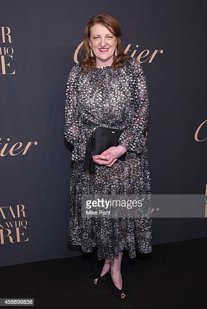 Editorinchief of Harpers Bazaar Glenda Bailey attends a dinner celebrating Women Who Dare hosted by Panthere De Cartier and Harper's Bazaar at...
