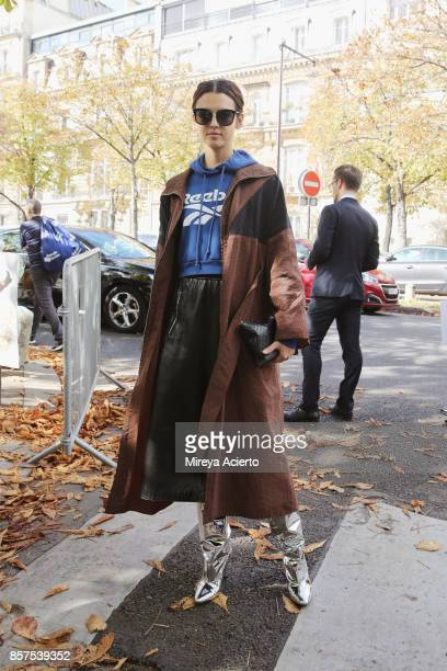 Editorinchief of InStyle Germany Kerstin Weng seen during Paris Fashion Week Womenswear Spring/Summer 2018 on October 3 2017 in Paris France