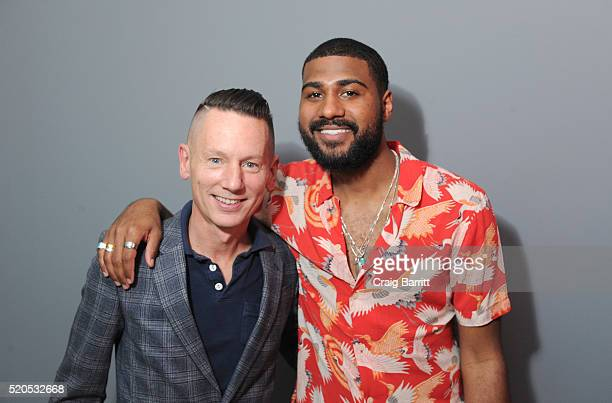GQ EditorinChief of Jim Nelson and GQ Style Guy Mark Anthony Green attend as Bon Appetit And GQ Celebrate The Education Of A Foodie With Daniel...