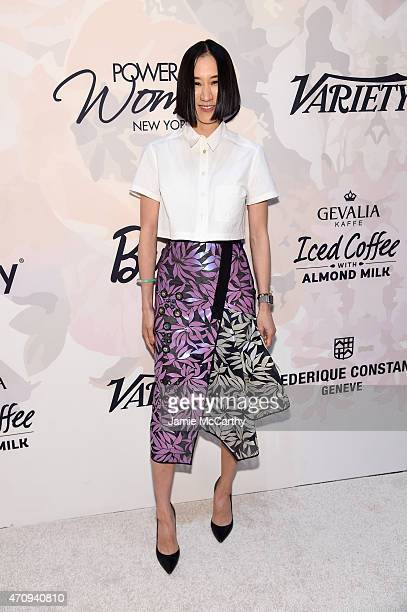 Editor-in-Chief of Lucky, Eva Chen attends Variety's Power of Women New York presented by Lifetime at Cipriani 42nd Street on April 24, 2015 in New...