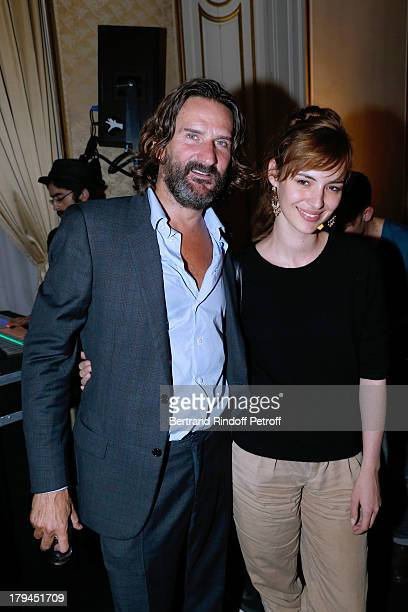 EditorinChief of Lui Frederic Beigbeder and Author of erotic comic books for 'Lui' Louise Bourgoin attends Lui Magazine Launch Party held at Foch...