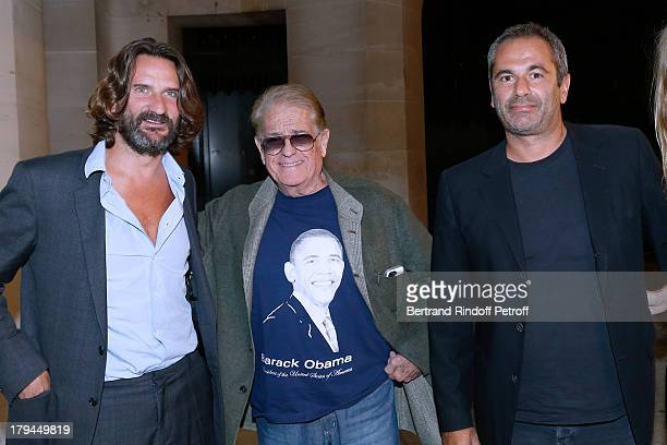EditorinChief of Lui Frederic Beigbeder founder of Lui in 1963 Daniel Filipacchi and owner of Lui JeanYves le Fur attend Lui Magazine Launch Party...
