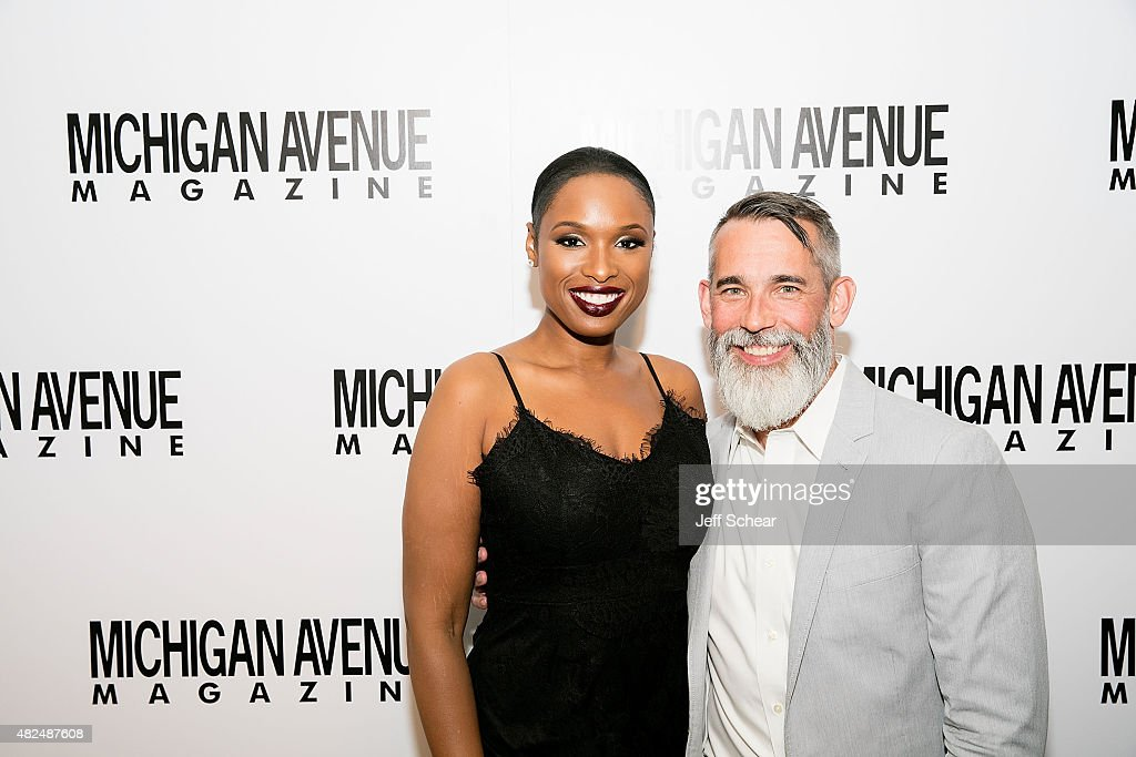 Editor-In-Chief of Michigan Avenue Magazine, J.P. Anderson and Jennifer Hudson attend Michigan Avenue Magazine and Art Van Furniture Host A Sweet Evening with Jennifer Hudson presented by Qatar Airways at Waldorf Astoria Chicago on July 30, 2015 in Chicago, Illinois.