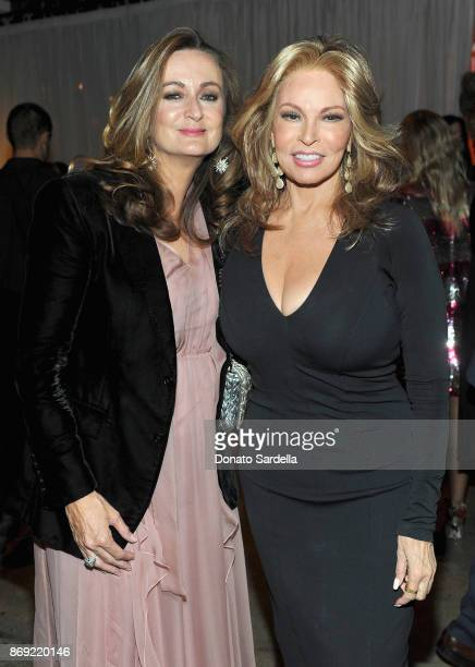 EditorinChief of PORTER Lucy Yeomans and Raquel Welch at PORTER Hosts Incredible Women Gala In Association With Estee Lauder at NeueHouse Los Angeles...