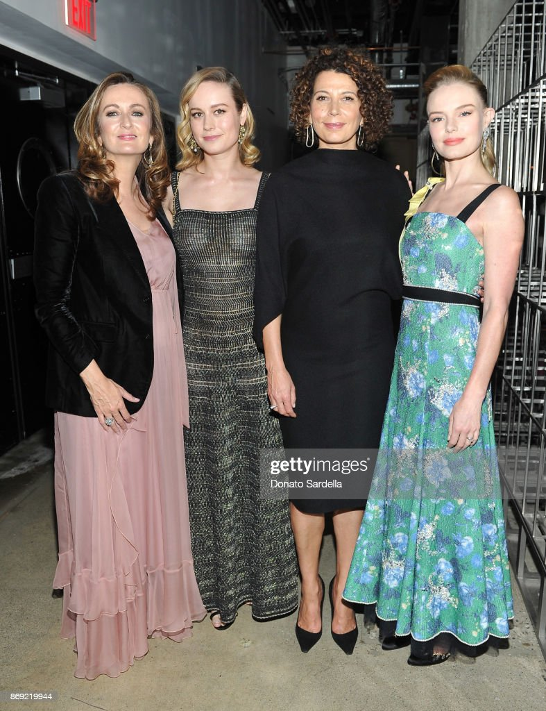 Editor-in-Chief of PORTER, Lucy Yeomans, Brie Larson, Chairman of Universal Pictures, Donna Langley and Kate Bosworth at PORTER Hosts Incredible Women Gala In Association With Estee Lauder at NeueHouse Los Angeles on November 1, 2017 in Hollywood, California.