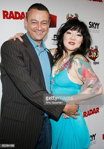 Editorinchief of Radar Maer Roshan and comedian Margaret Cho attend a screening of Margaret Cho's 'The Cho Show' at Le Royale on August 13 2008 in...