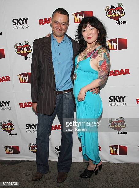 Editorinchief of Radar Maer Roshan and comedian Margaret Cho attend the premiere of VH1's 'The Cho Show' at Le Royale August 13 2008 in New York City