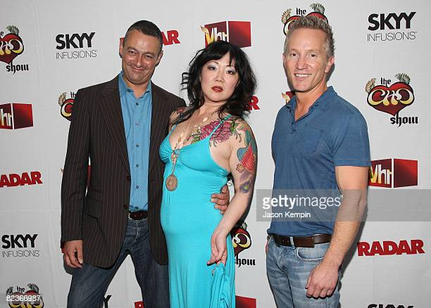 Editorinchief of Radar Maer Roshan comedian Margaret Cho and Executive Vice President of VH1 Original Programming and Production Jeff Olde attend the...