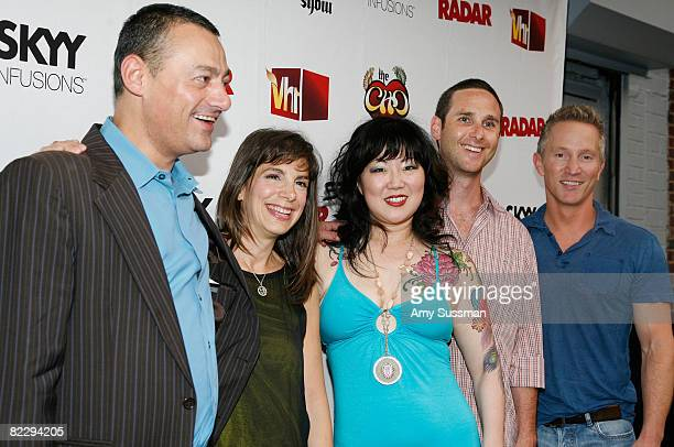 Editorinchief of Radar Maer Roshan Radar publisher Anne Perton comedian Margaret Cho executive producer Noah Pollack and executive vice president of...