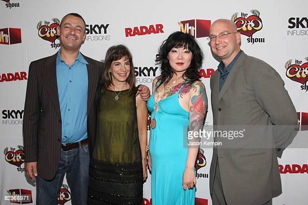 Editorinchief of Radar Maer Roshan Radar publisher Anne Perton comedian Margaret Cho and Radar associate publisher PJ Lucus attend the premiere of...