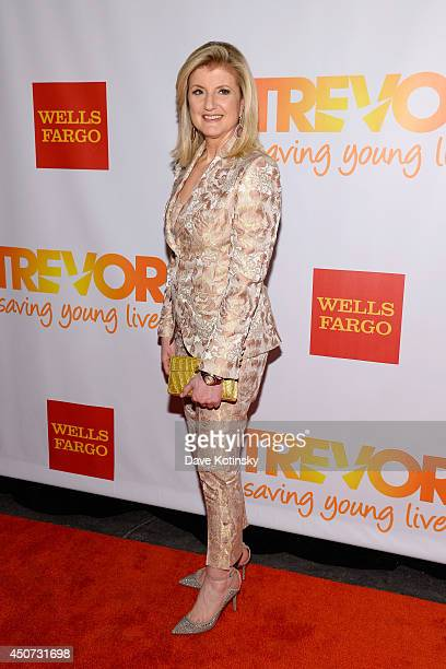 Editorinchief of the Huffington Post Media Group Arianna Huffington attends the Trevor Project's 2014 TrevorLIVE NY Event at the Marriott Marquis...