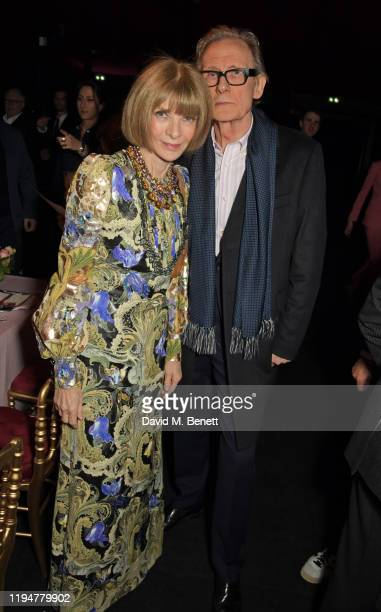 Editor-In-Chief of US Vogue Dame Anna Wintour and Bill Nighy attend an intimate dinner in celebration of 50 years of Paul Smith at Le Trianon on...