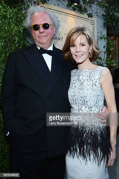 Editorinchief of Vanity Fair Graydon Carter and Anna Carter arrive for the 2013 Vanity Fair Oscar Party hosted by Graydon Carter at Sunset Tower on...