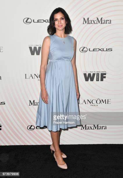 Editorinchief of Vanity Fair magazine Radhika Jones wearing Max Mara attend the Women In Film 2018 Crystal Lucy Awards presented by Max Mara Lancôme...