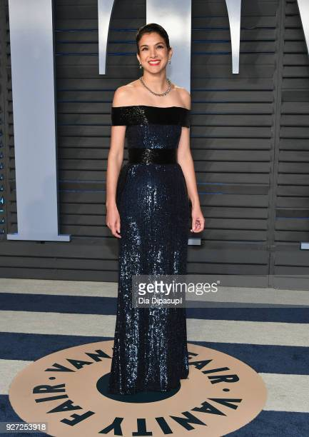 EditorinChief of Vanity Fair Radhika Jones attends the 2018 Vanity Fair Oscar Party hosted by Radhika Jones at Wallis Annenberg Center for the...