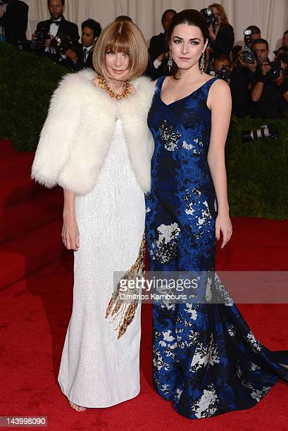 EditorinChief of Vogue Anna Wintour and Bee Shaffer attend the Schiaparelli And Prada Impossible Conversations Costume Institute Gala at the...