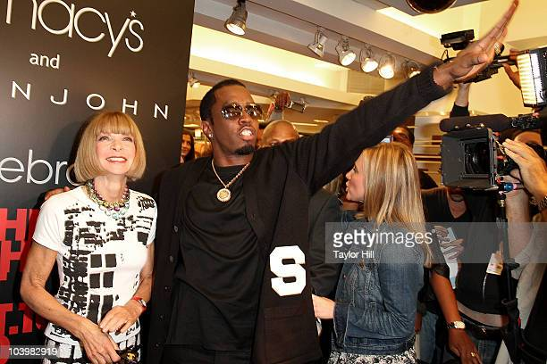EditorinChief of Vogue Anna Wintour and Sean Diddy Combs attend the Macy's celebration of Fashion's Night Out at Macy's Herald Square on September 10...