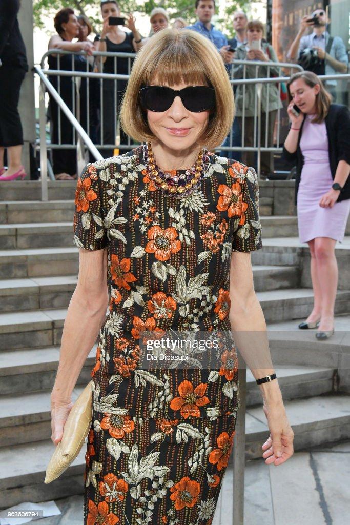 Editor-in-chief of Vogue Anna Wintour attends Lincoln Center's American Songbook Gala at Alice Tully Hall on May 29, 2018 in New York City.