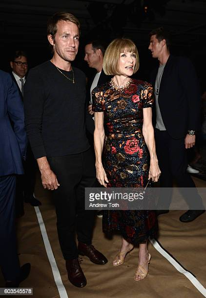 Editorinchief of Vogue Anna Wintour attends the Rag Bone fashion show during New York Fashion Week September 2016 at Skylight Clarkson North on...
