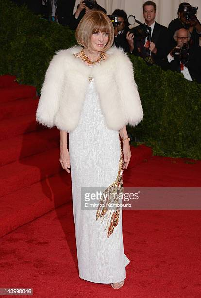 EditorinChief of Vogue Anna Wintour attends the Schiaparelli And Prada Impossible Conversations Costume Institute Gala at the Metropolitan Museum of...