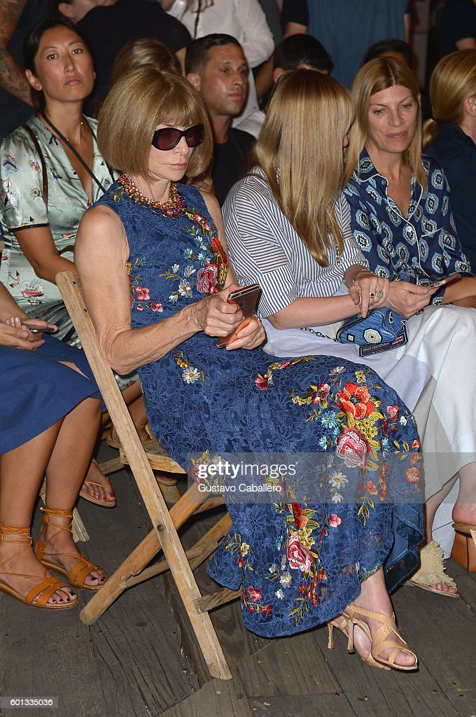 Editor-in-chief of Vogue Anna Wintour attends the #TOMMYNOW Women's Fashion Show during New York Fashion Week at Pier 16 on September 9, 2016 in New York City.