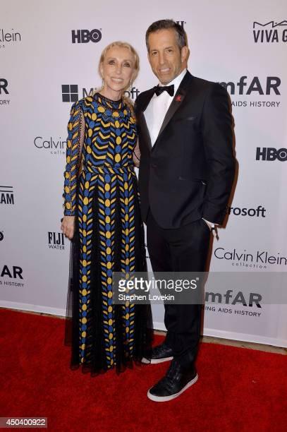 Editor-in-chief of Vogue Italia Franca Sozzani and amfAR Chairman, designer Kenneth Cole attend the amfAR Inspiration Gala New York 2014 at The Plaza...
