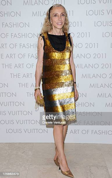 """Editor-in-chief of Vogue Italy Franca Sozzani attends the Louis Vuitton """"The Art Of Fashion"""" exhibition opening during Milan Fashion Week Womenswear..."""