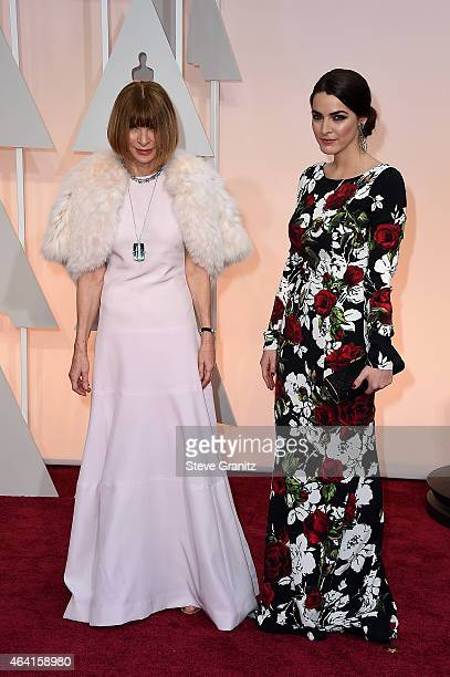 EditorinChief of 'Vogue' magazine Anna Wintour and Bee Shaffer attends the 87th Annual Academy Awards at Hollywood Highland Center on February 22...