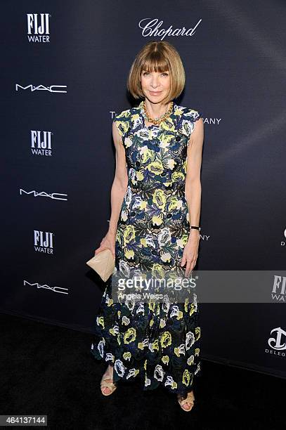 EditorinChief of 'Vogue' magazine Anna Wintour attends The Weinstein Company's Academy Awards Nominees Dinner in partnership with Chopard DeLeon...
